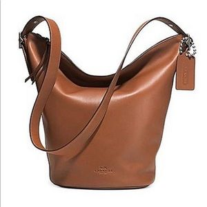 Coach 100% authentic tan bleecker sport duffle bag